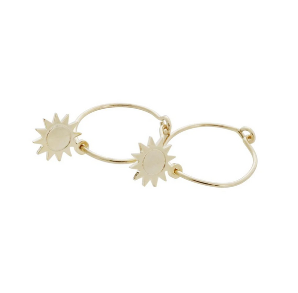 Magic Charm Sun Hoops