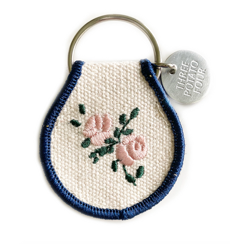 Rose - Patch Keychain
