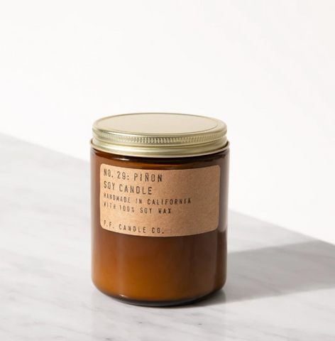 Piñon 7.2oz Soy Candle - P.F. Candle Co.