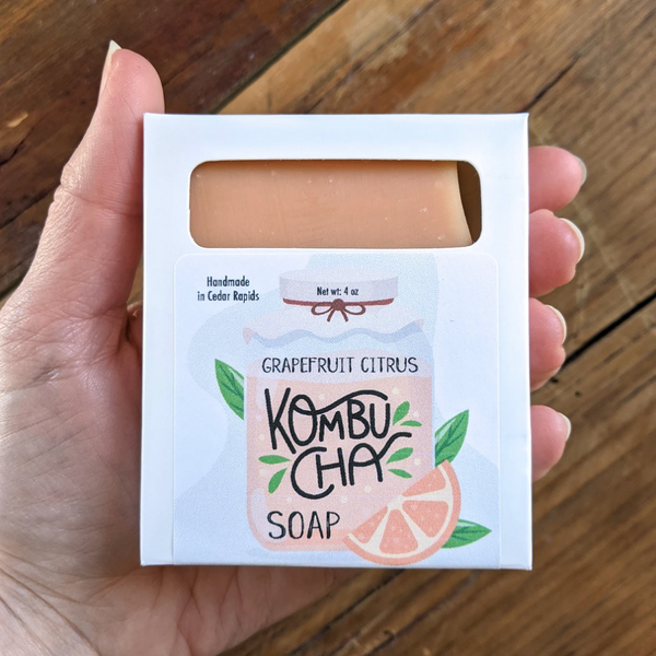 Grapefruit Citrus Kombucha Soap