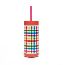 Block Party Stainless Steel Tumbler with Straw