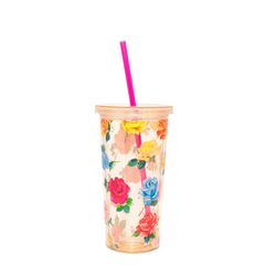 Coming Up Roses Sip Tumbler with Straw