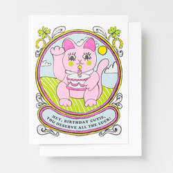 Lucky Birthday Cutie Card