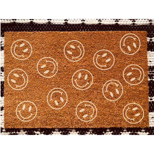 Smiley Face Mat