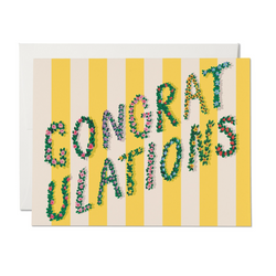 Yellow Stripe Congratulations Card