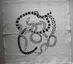 Snakes Tea Towel