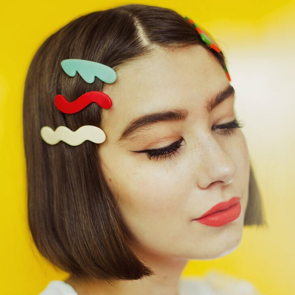 3pc. Mini Waves Barrette Set