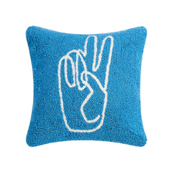 Peace Sign Hand Hook Pillow