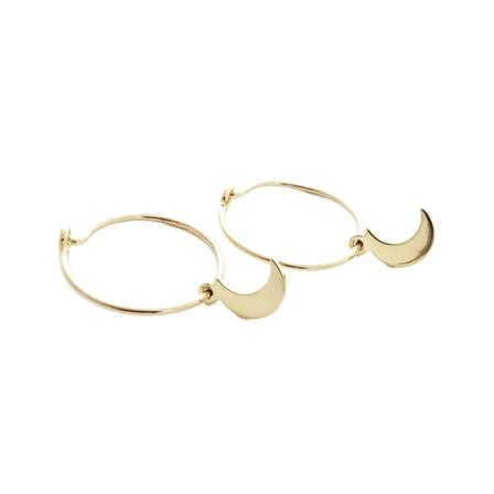 Magic Charm Moon Hoops