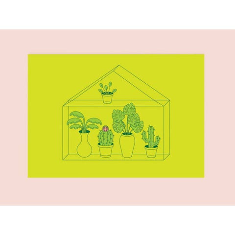 Green House Mini Print