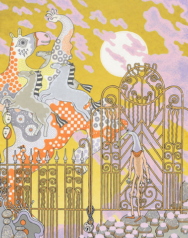 Gated Flying Horses Print
