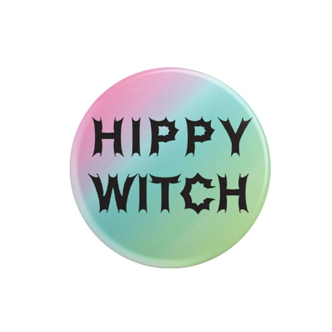 Hippy Witch Pinback Button