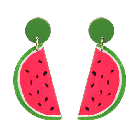 Watermelon Stud Dangle Earrings