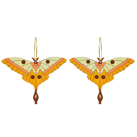 Moth Hoop Earrings