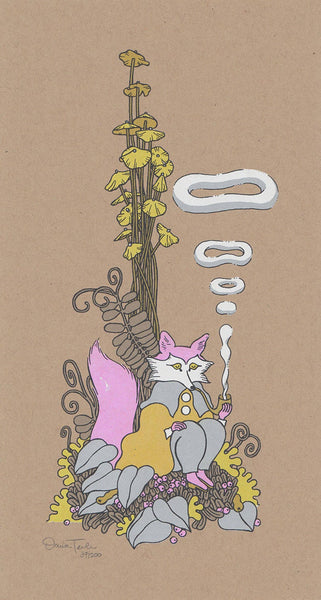 Smoking Fox Art Print