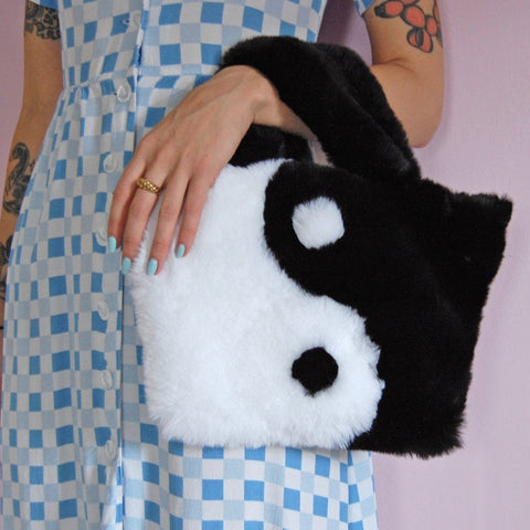 Yin Yang Plush Purse