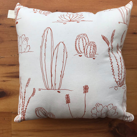 Desert Plants Pillow - Clay