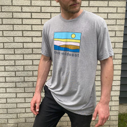 The Midwest Pastel Landscape Tee - H. Gray