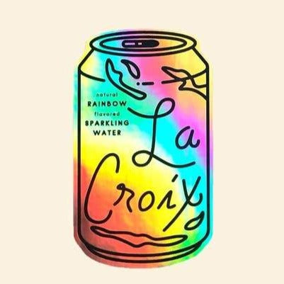 Holographic La Croix Sticker