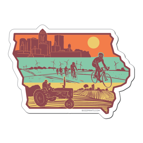 Iowa layers sticker