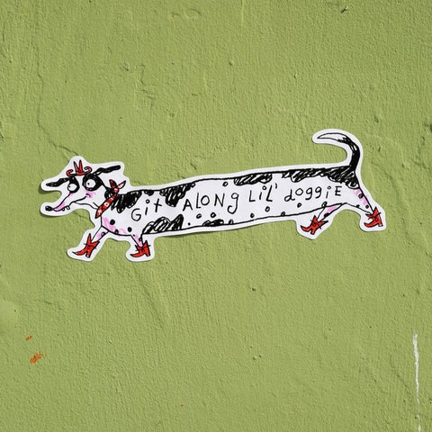 Git Along Lil Doggie Bumper Sticker
