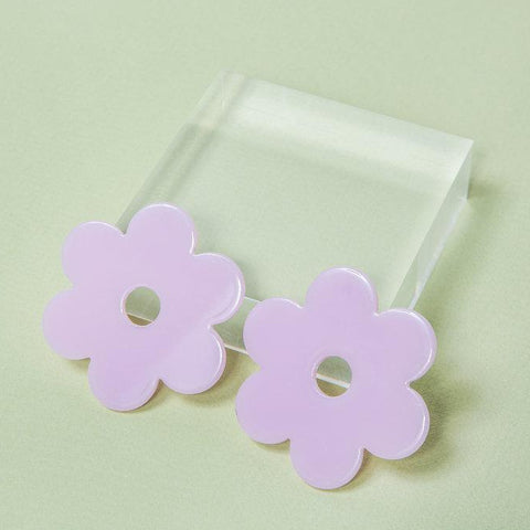 Large Acetate Daisy Studs
