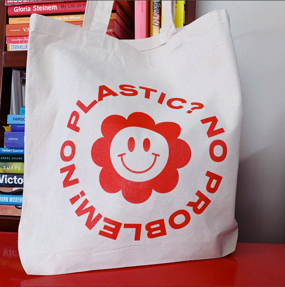 No Plastic No Problem Tote Bag