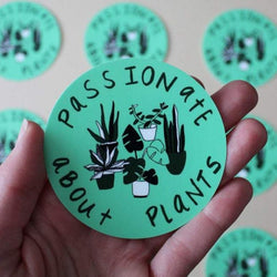 Passionate About Plants Sticker