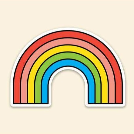 Rainbow Arch Sticker