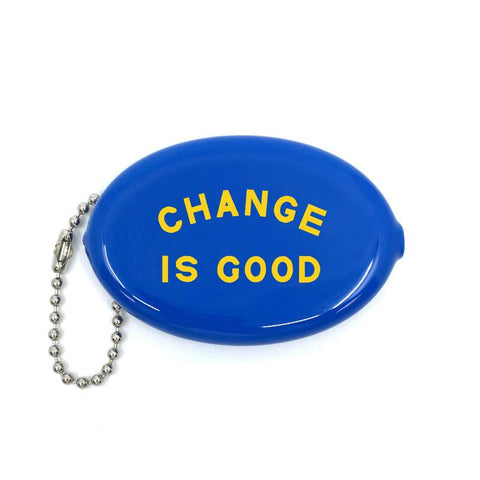 Change Is Good Coin Pouch Keychain