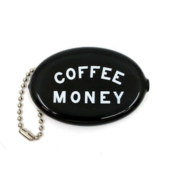 Coffee Money Coin Wallet Keychain