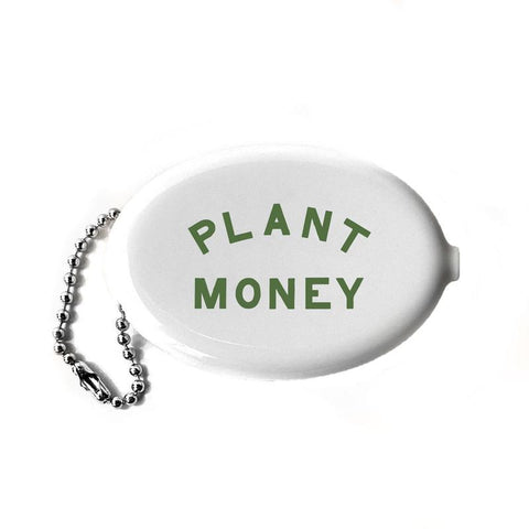 Plant Money Coin Wallet Keychain