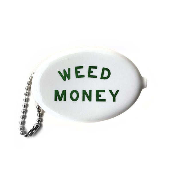 Weed Money Coin Wallet Keychain