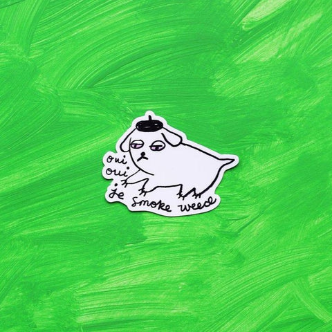 Weed Dog Sticker