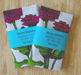 Flower Tea Towel - Zinnia