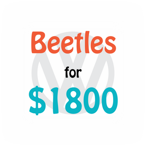 Choice of Beetles for $1800 - flizbee