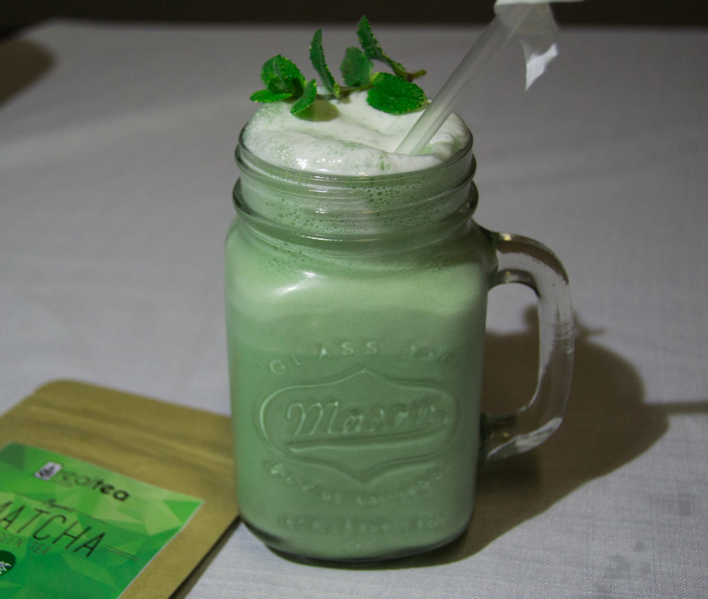 Easy Delicious Matcha Super-food Milkshake