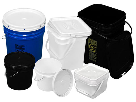 Buckets with Snap Lids