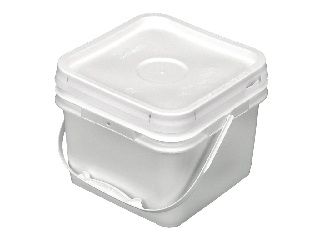 2 Gallon Square Bucket with Snap On Lid TankBarn