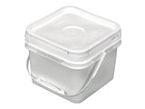 2 Gallon Square Bucket with Snap On Lid