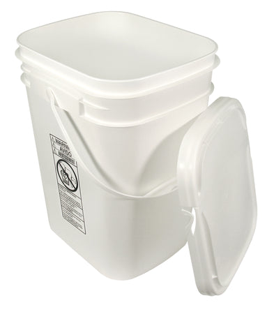 5.3 Gallon Rectangular Bucket with Hinged Snap On Lid