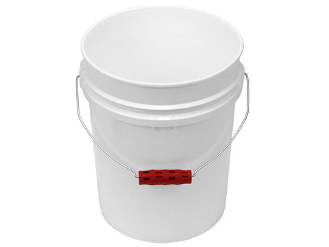 5 Gallon White Bucket with Oversized Ergonomic Grip