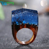 Image of Unique Magical Snowy Night Handmade Ring