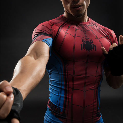 Super Hero Spider Man 3D Compression Long & Short Sleeve T-Shirt - Topmazing