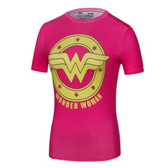 Wonder Woman 3D Tshirt Ladies Compression Tops