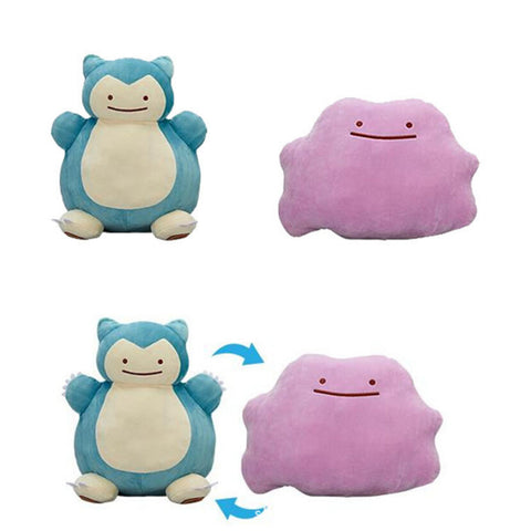 Ditto Snorlax Reversible Plush Toy - Topmazing