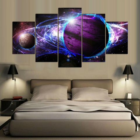 Violet Star Canvas (5 Pieces)