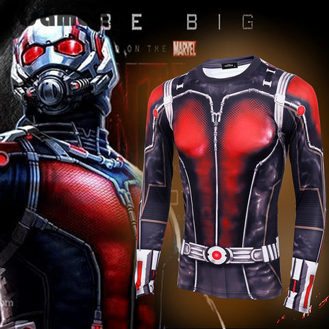 ANT Man 3D Compression Long Sleeve T-Shirt - Topmazing