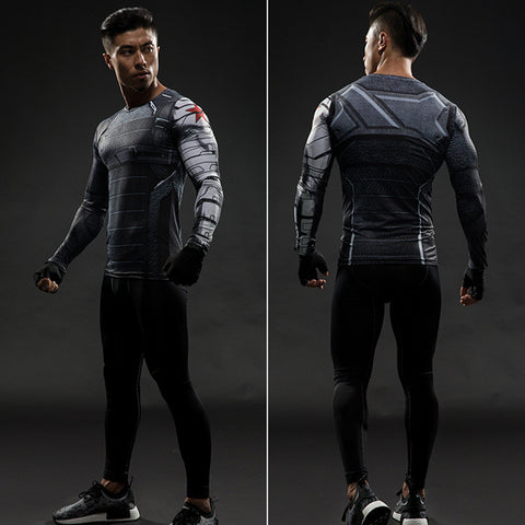 Winter Soldier Avengers Long Sleeve T Shirts - Topmazing