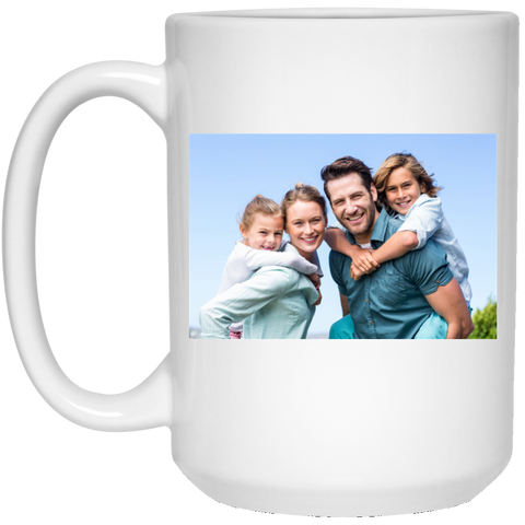21504 15 oz. White Mug Family Test - Topmazing
